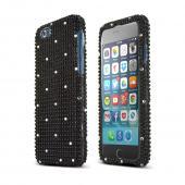 Black Bling Gems Apple iPhone 6 Crystal Bling Hard Plastic Case Cover