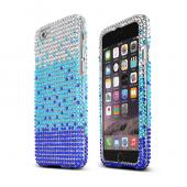 Turquoise Blue Waterfall Apple iPhone 6 Crystal Bling Hard Plastic Case Cover