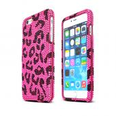 Hot Pink Leopard Apple iPhone 6 Plus Crystal Bling Hard Plastic Case Cover