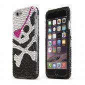 Black Pirate Apple iPhone 6 Crystal Bling Hard Plastic Case Cover