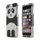 Silver Panda Apple iPhone 6 Crystal Bling Hard Plastic Case Cover
