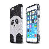 Silver Panda Apple iPhone 6 Plus Crystal Bling Hard Plastic Case Cover