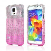 Hot Pink Waterfall Samsung Galaxy S5 Crystal Bling Hard Plastic Case Cover