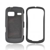 Black/ Gray Carbon Fiber for LG Rumor Reflex Hard Case