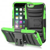 Lime Green Apple iPhone 6 Hard Plastic Cover and Silicone Skin Hybrid Case