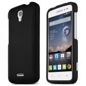 Black Alcatel OneTouch POP Astro Thin Rubberized Hard Polycarbonate Case Cover