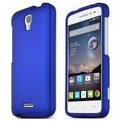 Blue Alcatel OneTouch POP Astro Thin Rubberized Hard Polycarbonate Case Cover