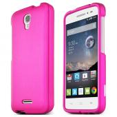 Hot Pink Alcatel OneTouch POP Astro Thin Rubberized Hard Polycarbonate Case Cover