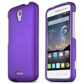 Purple Alcatel OneTouch POP Astro Thin Rubberized Hard Polycarbonate Case Cover