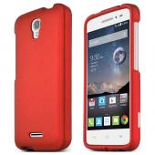 Red Alcatel OneTouch POP Astro Thin Rubberized Hard Polycarbonate Case Cover