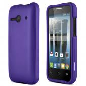Purple Alcatel One Touch Evolve 2 Thin Rubberized Hard Polycarbonate Case Cover