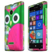 STANDARD GREEN FLOWERS Nokia Lumia 435 Thin Rubberized Hard Polycarbonate Case Cover