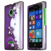 Purple Vines Nokia Lumia 435 Thin Rubberized Hard Polycarbonate Case Cover