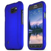 Blue Samsung Galaxy S6 Active Thin Rubberized Hard Polycarbonate Case Cover