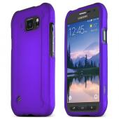 Purple Samsung Galaxy S6 Active Thin Rubberized Hard Polycarbonate Case Cover