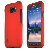 Red Samsung Galaxy S6 Active Thin Rubberized Hard Polycarbonate Case Cover