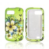 White HawaiianFlowers for ZTE Fury N850 Rubber HardCase