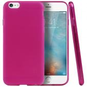 Frosted Pink Apple iPhone 6 Flexible Bendable Rubber Jelly Skin Case