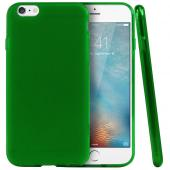Frosted Green Apple iPhone 6 Flexible Bendable Rubber Jelly Skin Case