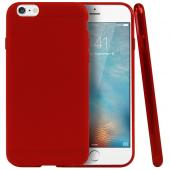 Frosted Red Apple iPhone 6 Flexible Bendable Rubber Jelly Skin Case