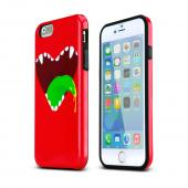 Red Happy Monster Apple iPhone 6 Flexible Bendable Rubber Jelly Skin Case