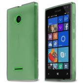 STANDARD CLEAR SOLID Nokia Lumia 435 Flexible Bendable Rubber Jelly Skin Case