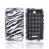 White/ Zebra for ZTE Score X500 Crystal Silicone Case