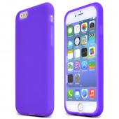 Purple Apple iPhone 6 Soft Flexible Reinforced Silicone Skin Case