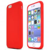 Red Apple iPhone 6 Soft Flexible Reinforced Silicone Skin Case