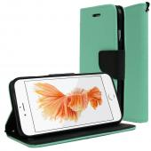Mint Black Apple iPhone 6 Magnetic Flap Front Cover Wallet Case